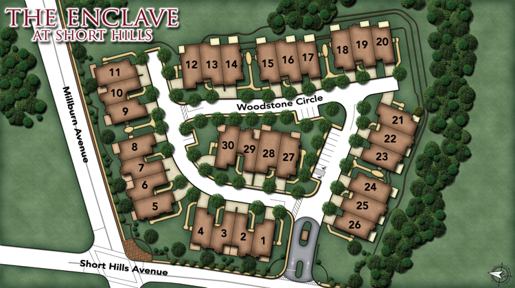 Enclave at Short Hills Site Map