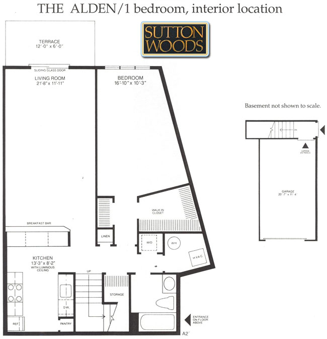 Alden floor plan for Sutton Woods Condos for sale in Chatham NJ