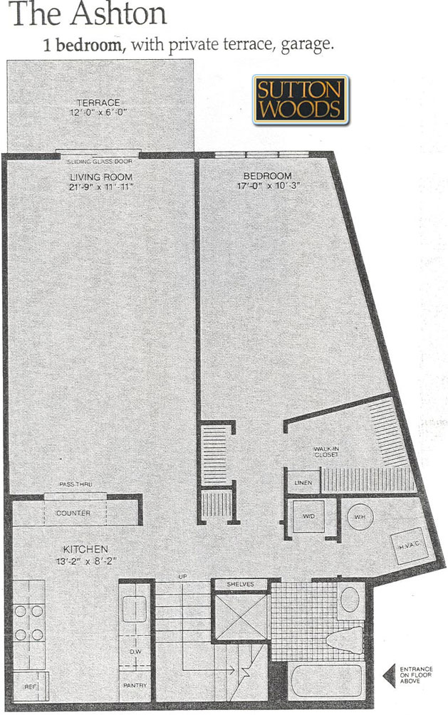 Ashton floor plan for Sutton Woods Condos for sale in Chatham NJ