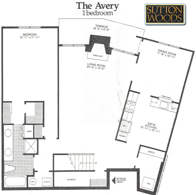 Avery floor plan for Sutton Woods Condos for sale in  Chatham NJ