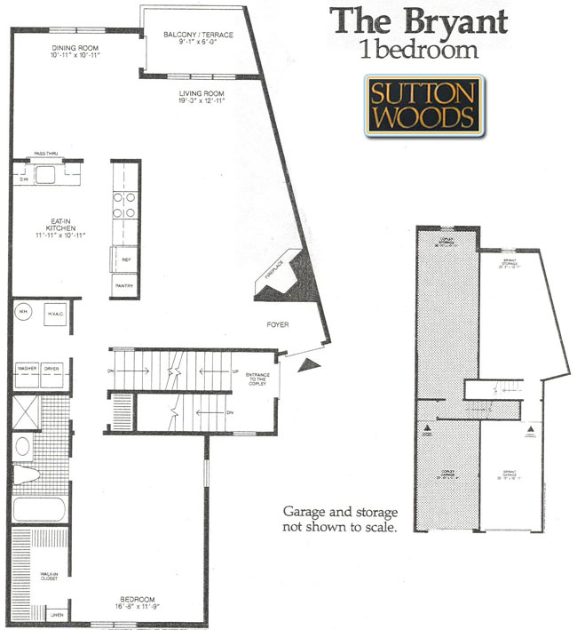 Bryant floor plan for Sutton Woods Condos for sale in  Chatham NJ