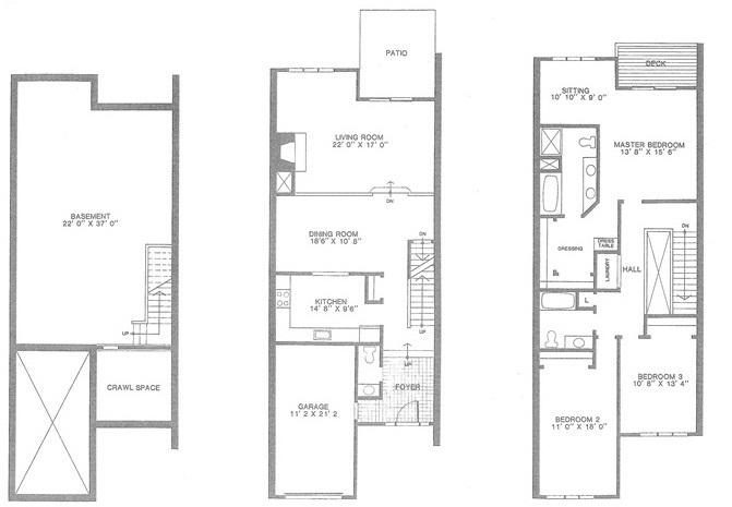 Buckingham floor plan, Madison Commons townhouses for sale, Madison NJ
