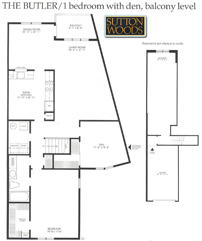 Butler floor plan, Sutton Woods Condos for sale in Chatham NJ