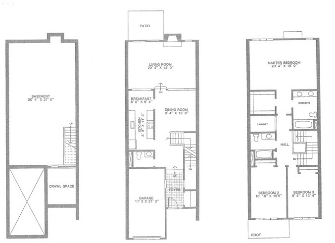 Cheshire floor plan, Madison Commons townhouses for Sale, Madison NJ