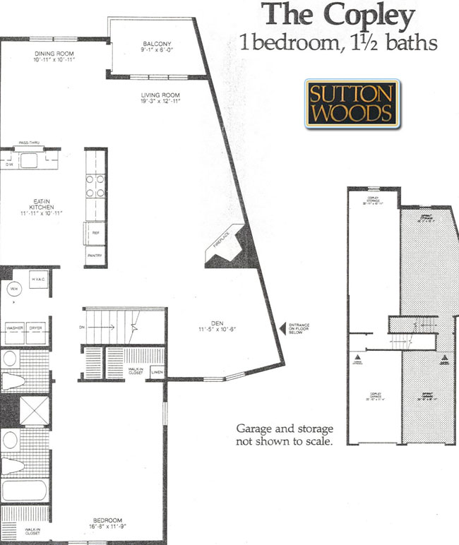 Copley floor plan for Sutton Woods Condos, Chatham NJ