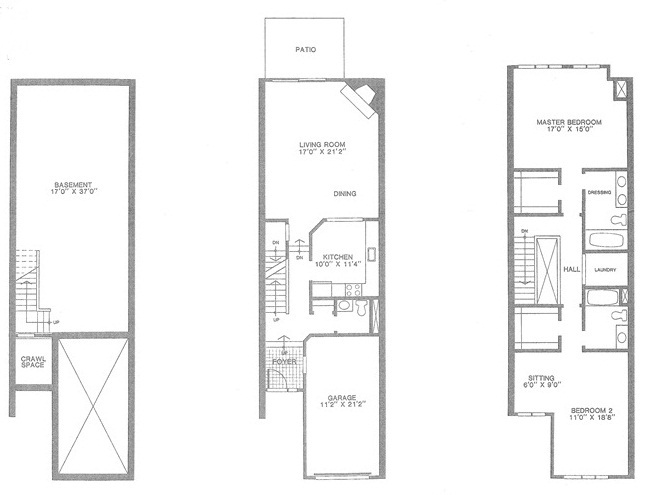Devonshire floor plan, Madison Commons Townhouses for Sale, Madison NJ