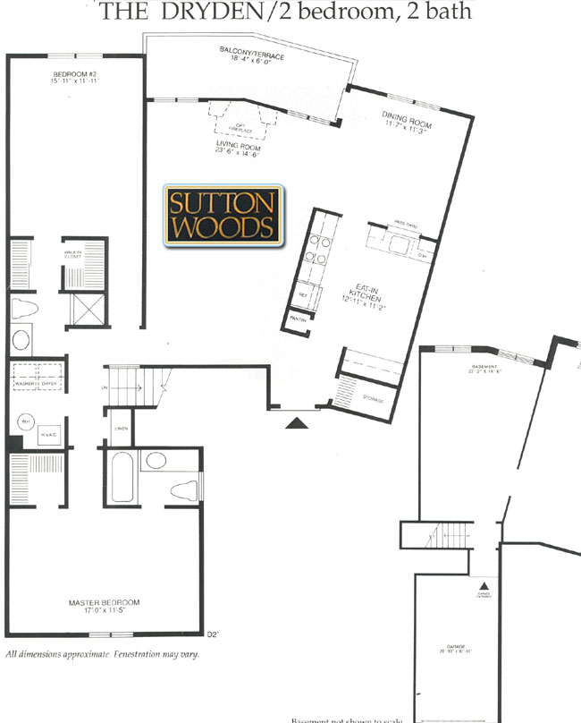 Dryden floor plan, Sutton Woods Condos for Sale in Chatham NJ