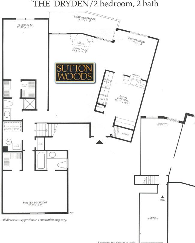 Dryden floor plan, Sutton Woods Condos for Sale in Chatham NJ