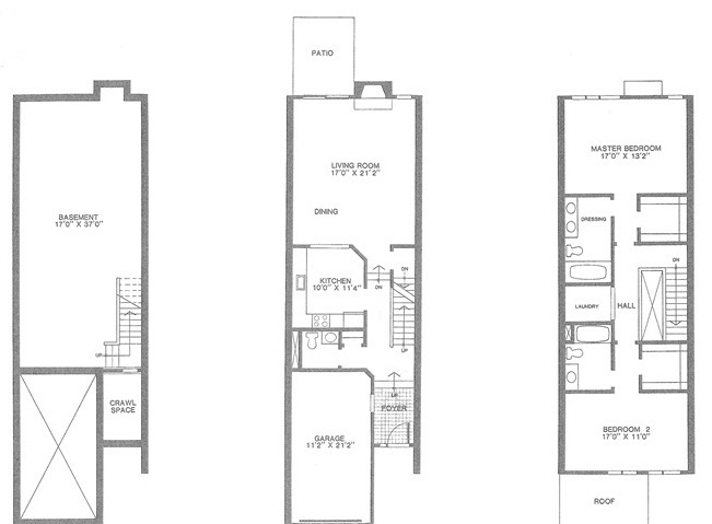 Exter floor plan, Madison Commons Townhouses for Sale, Madison NJ