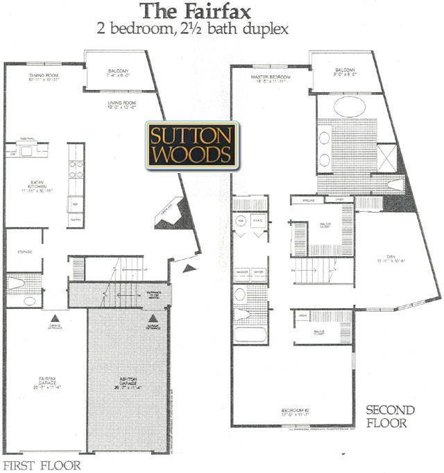Fairfax floorplan, Sutton Woods Condos for Sale, Chatham NJ