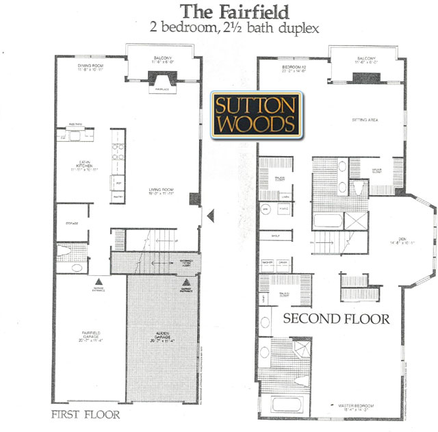 Fairfield floor plan, Sutton woods Condos for Sale, Chatham NJ