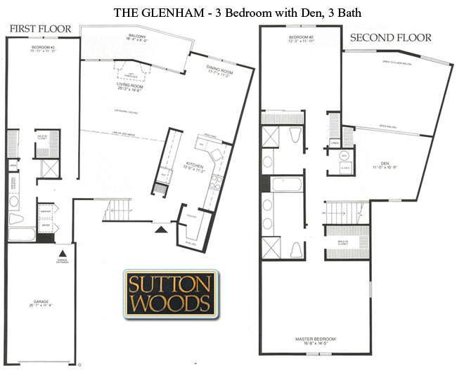 Glenham floor plan, Sutton Woods Condos for Sale, Chatham NJ