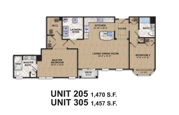 Floor plans for Summit Place at Parmley Square, Summit NJ