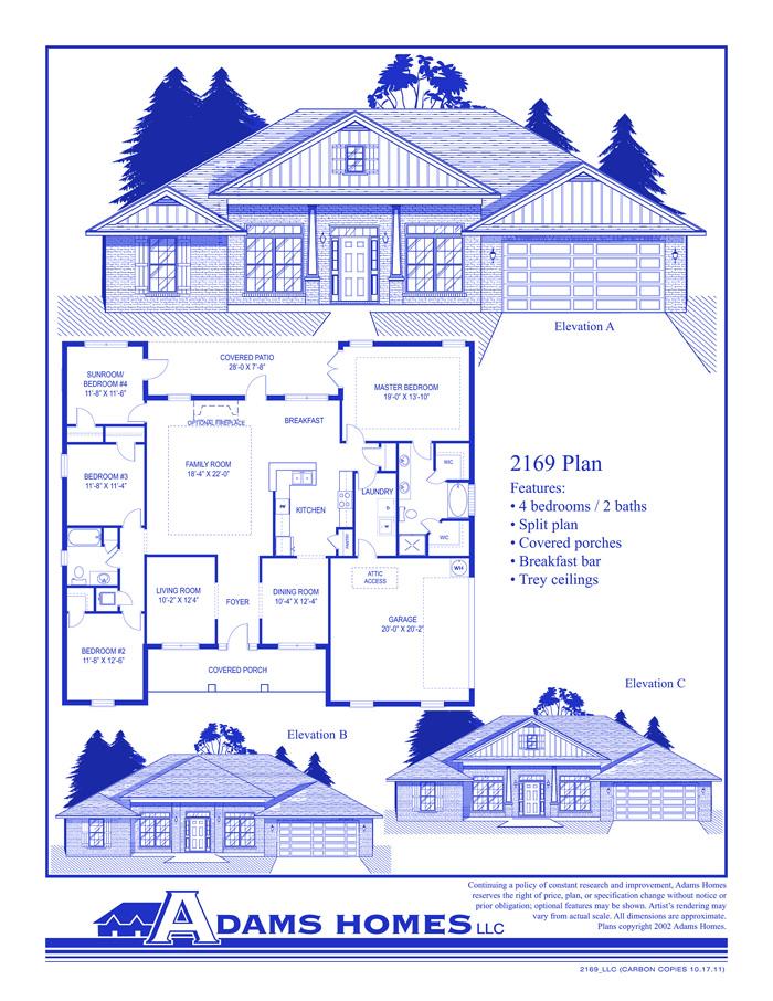 Adams homes model 2625