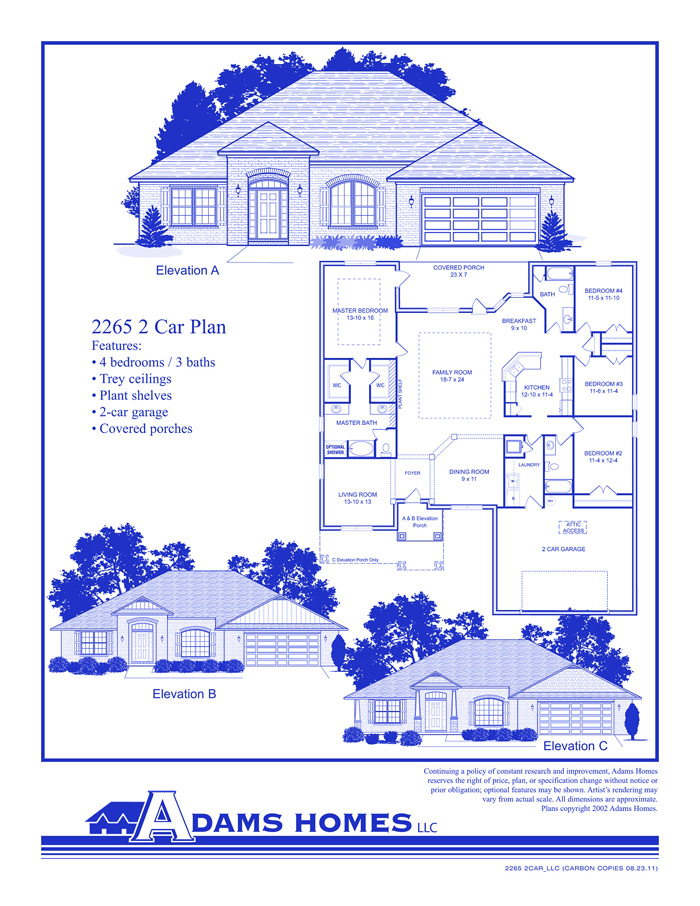 Adams Homes Floor Plans and Location in Jefferson Shelby St