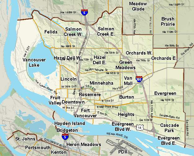 Vancouver Neighborhood Map