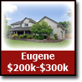Search for homes in Eugene, Oregon from $200-$300k