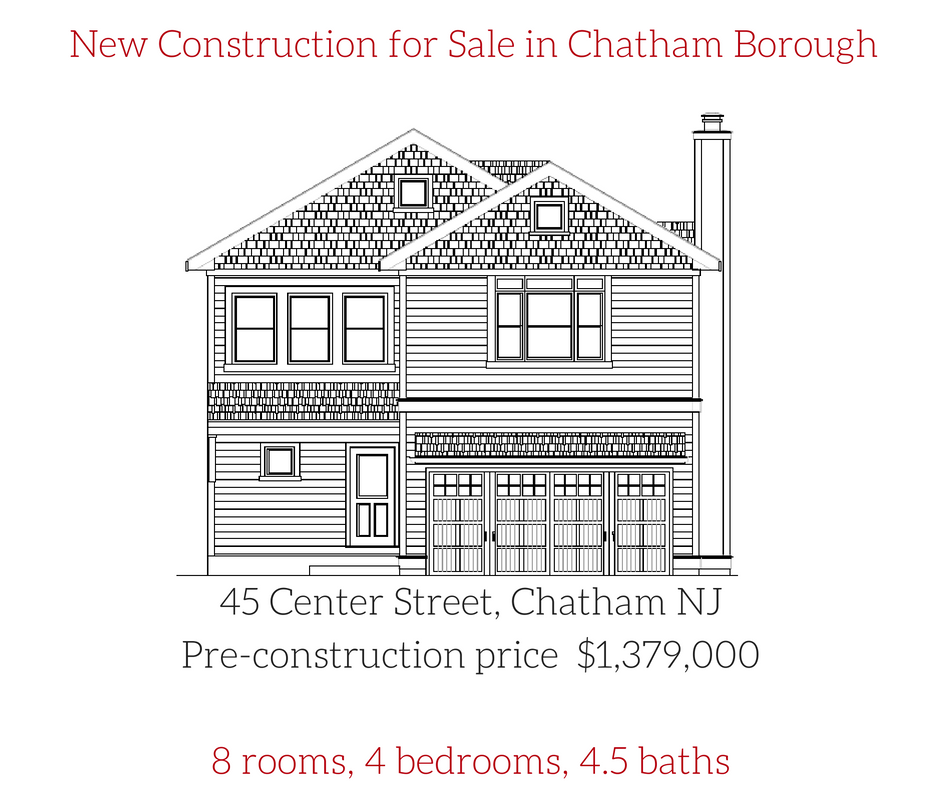 45 center ave chatham nj for New construction houses in nj