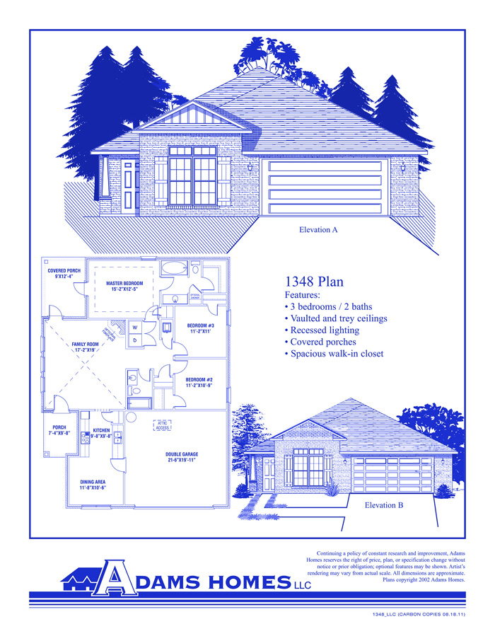 Adams Homes Floor Plans And Location In Jefferson Shelby