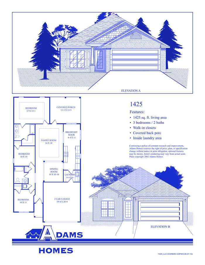 Adams homes floor plans and location in jefferson shelby for Home builders in alabama floor plans