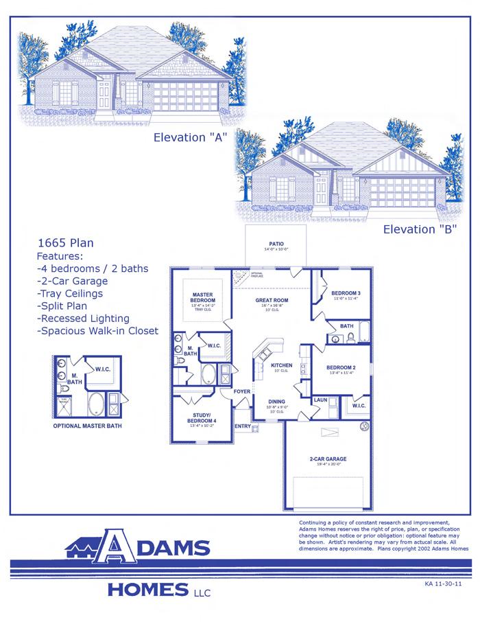 Adams Homes Floor Plan 2508